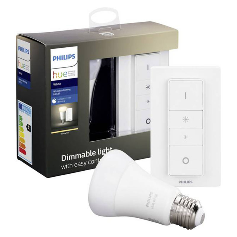 KIT Lampada White E27 1x 9W + Switch Philips HUE