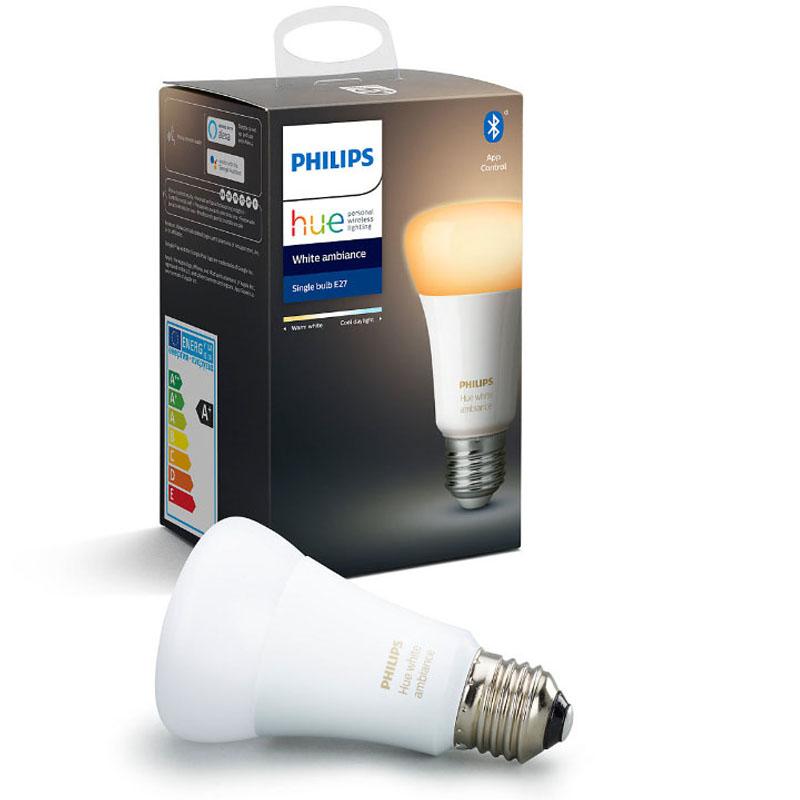 Lâmpada luz branca regulavel 1x9W E27 LED Philips HUE