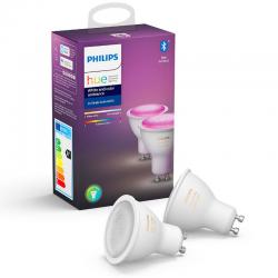 Lampadas White & Color GU10 2x 6,5W Philips HUE